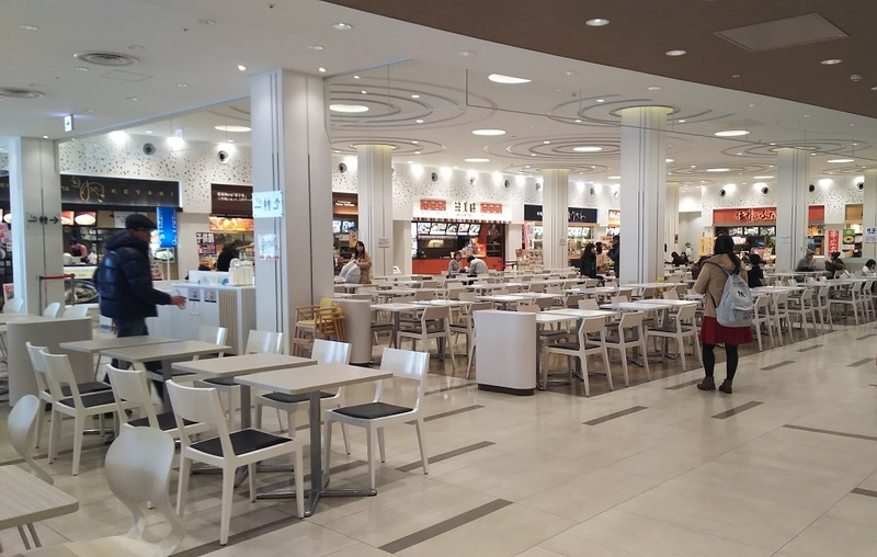 Food court inside Mitsui Outlet Park, Sapporo
