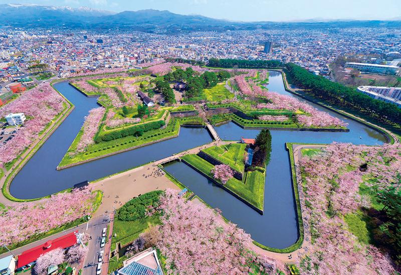 Goryokaku Park, Hakodate in spring