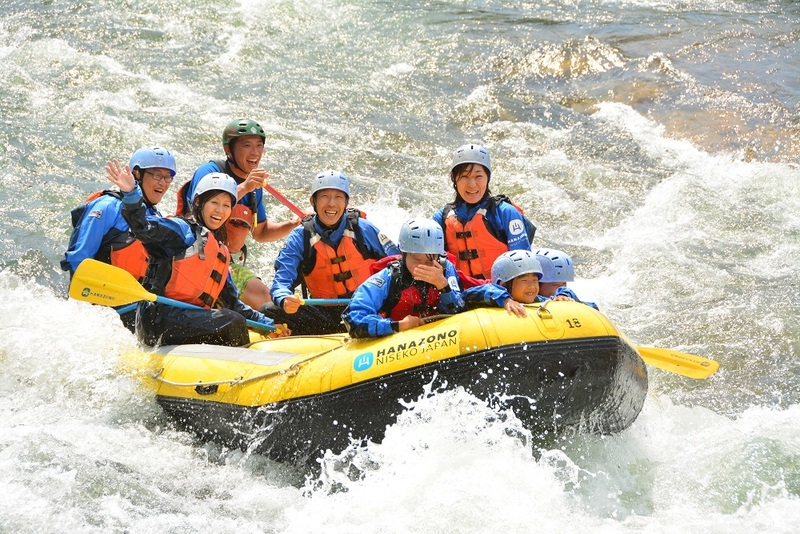 White water rafting in Niseko