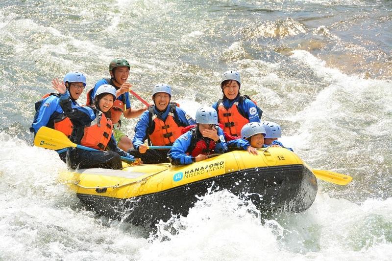 White water rafting in Niseko