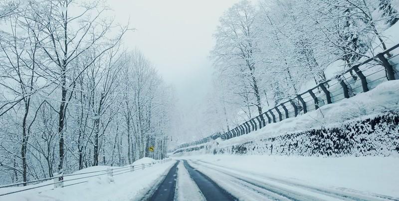 Driving to Asahidake