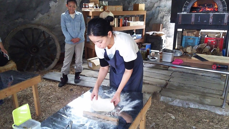 Niseko Green Farm - Rolling the dough