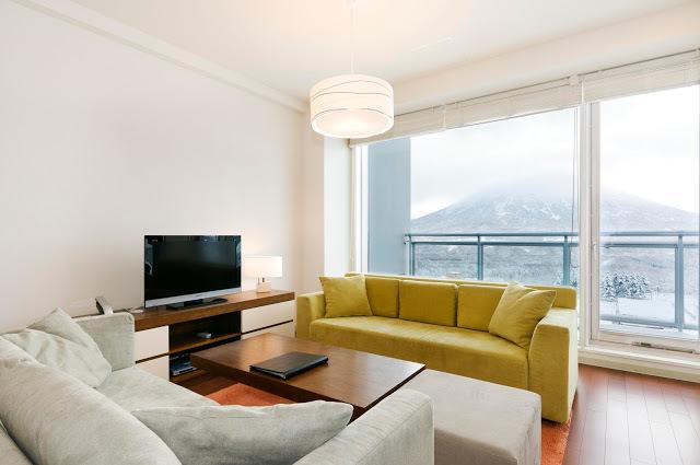 niseko landmark view living room