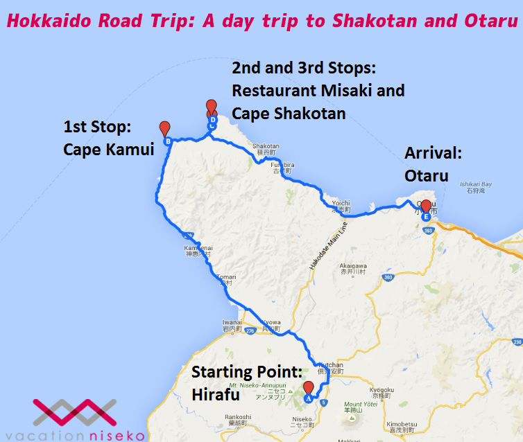 hokkaido road trip shakotan and otaru vacation niseko blog