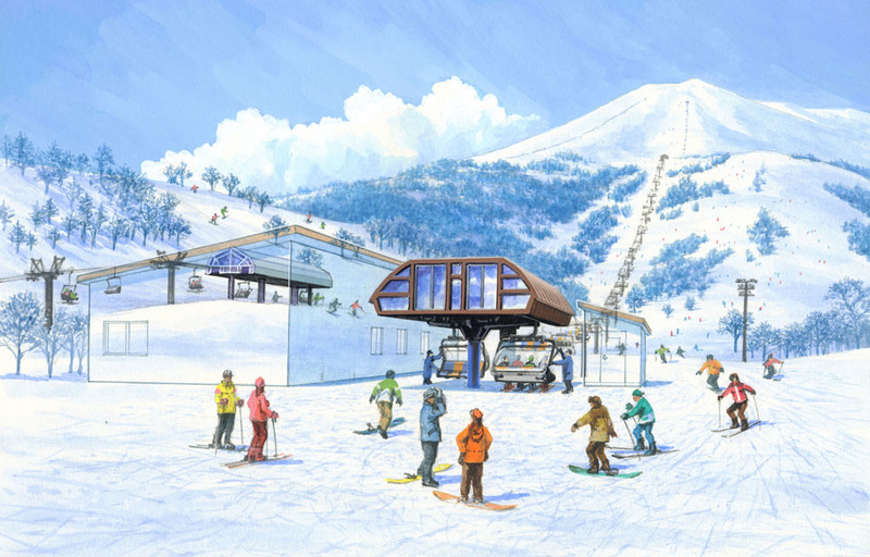 Triple hooded lift in Hirafu will be upgraded to a high speed quad lift in 2016 December