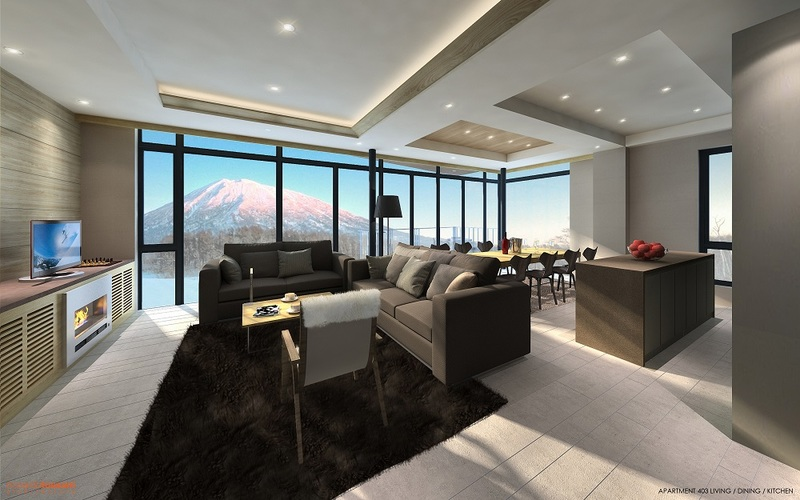 Aspect Niseko Living Room