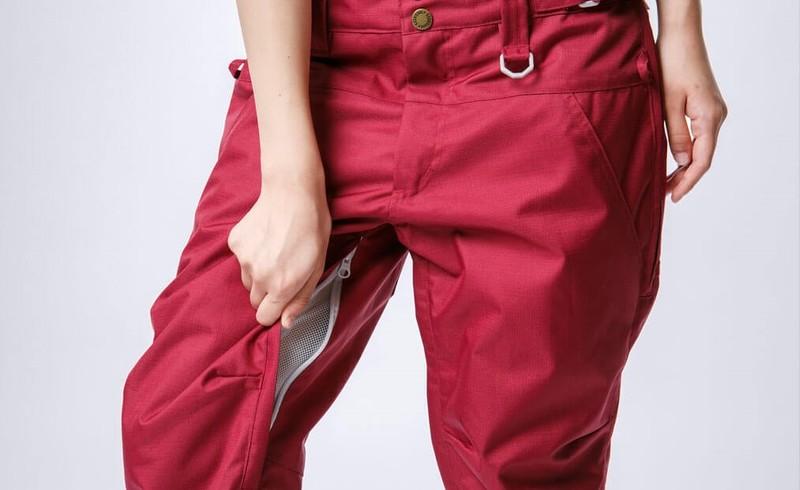 Vents of ski pants