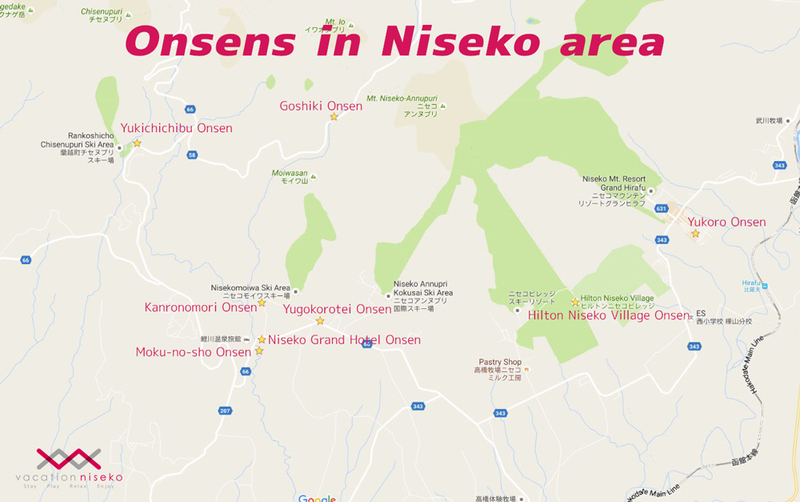 Onsens around Niseko area.