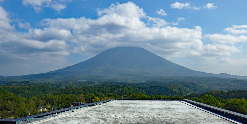 Mount Yotei view from Aspect Niseko rooftop.