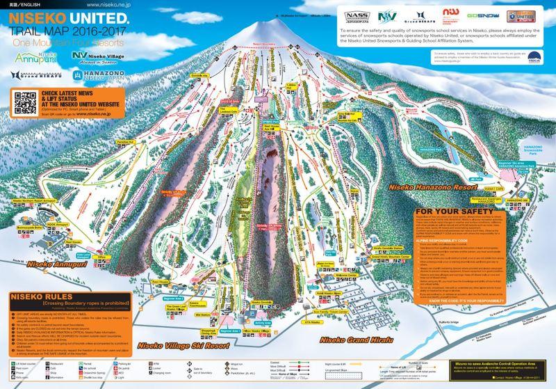 Niseko Trail Map 2016-17