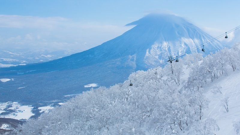 Mount Yotei in winter