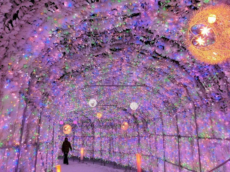 Illumination Tunnel at Toyako