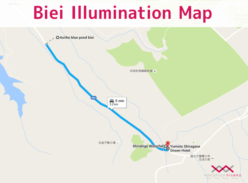 Illumination map at Biei