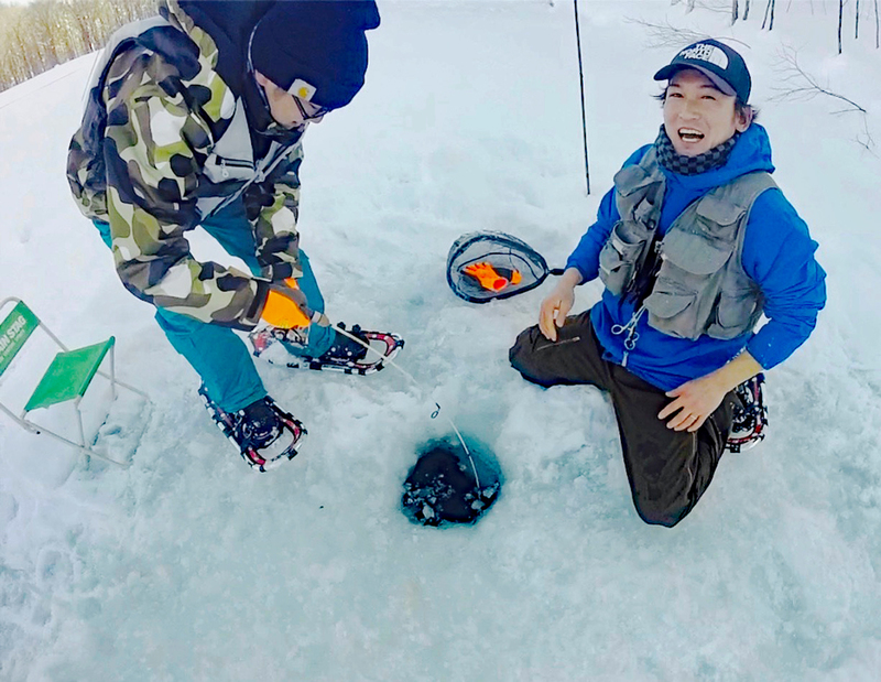 Ice Fishing in Niseko