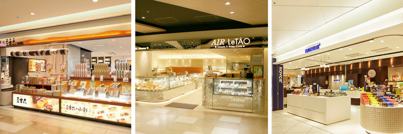Sweet shops inside Chitose Airport