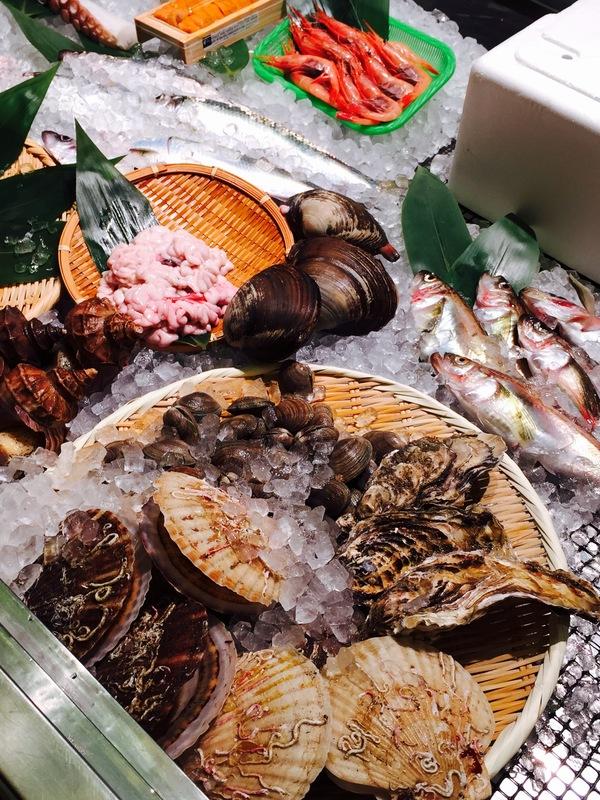 倶知安の三代目魚屋侍の魚介類