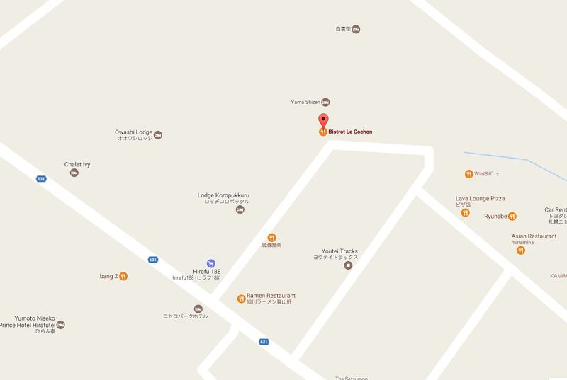 Location of Bistrot Le Cochon Niseko