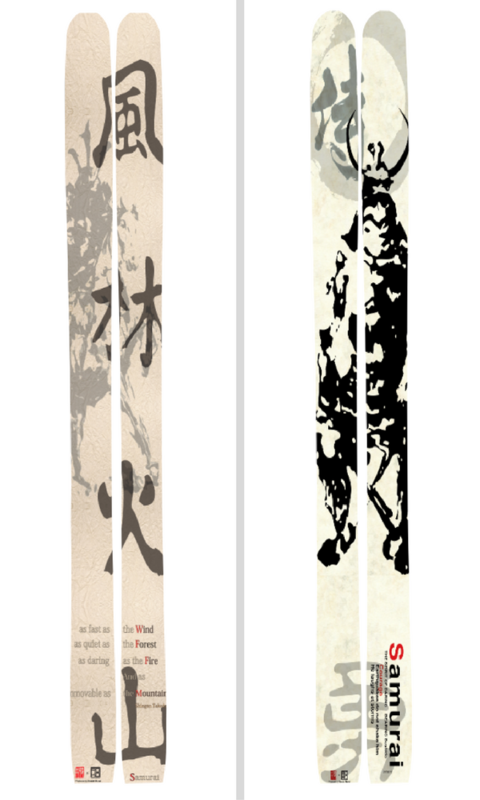 Japanese styles design made by ROKO skis, Niseko.
